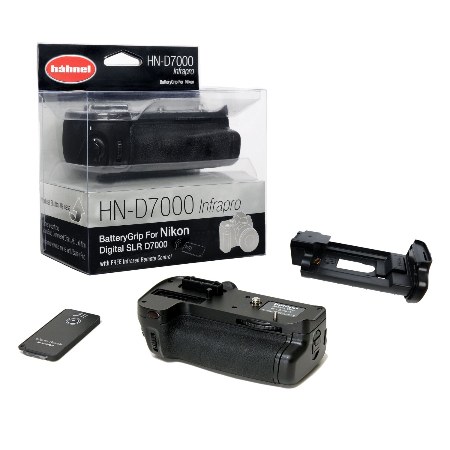 Hahnel Battery Grip For The Nikon D7000 With Remote Control Infra Red Camera